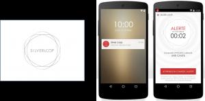 Alerte par notifications sur smartphone des proches et logo Silverloop